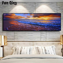 "Full Square/Round Drill 5D DIY Diamond Painting large size""Seascape "" 3D Embroidery Cross Stitch 5D Home Decor gift(China)"
