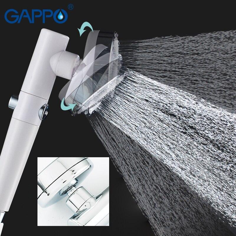 GAPPO 360 derece dönebilen duş başlığı ile su kontrol düğmesi filtresi yüksek basınçlı su tasarrufu yağmur biçimli duş sulama başlığı