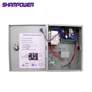 Блок питания с контролем доступа, 12 В, 3 А, 5 А, 10 А, 20 А, источник питания с аккумулятором для всех типов электрических дверных замков с задержк...