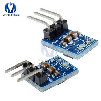 Fuente de alimentación de 5V a 3,3 V, módulo reductor de DC-DC, AMS1117, 800MA, tablero de refuerzo ajustable automático, voltaje de límite de arranque, 5 uds. 1