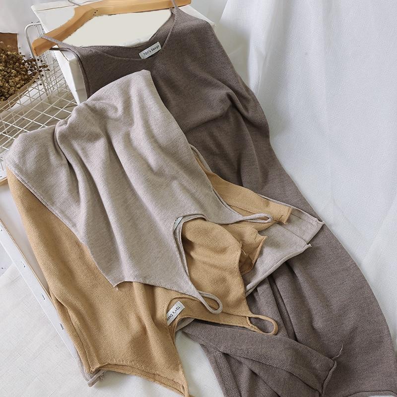Vintage Women Solid Spaghetti Strap A-Line Mid-Calf Dress Summer Casual Sleeveless V-Neck Elegant Ladies Slim Dresses Vestidos