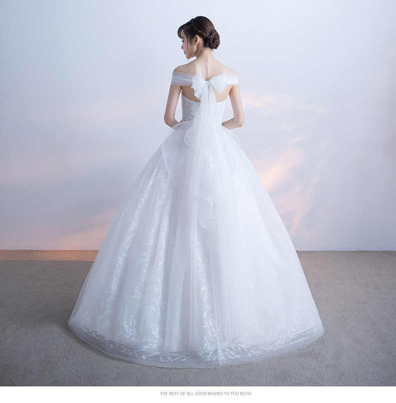 Alilove Detachable/Ball Gown/Off Shoulder/Bride/Simple/New/Style/Big Size Wedding Dress 2 in 1/Lace/White/Direct/Women/Luxury