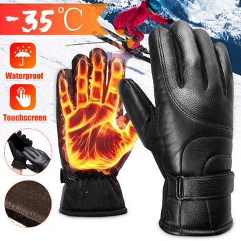 Rękawice motocyklowe męskie wyścigowe motocykl Motocross rękawiczki jeździeckie motocyklowe zimowe ciepłe termiczna pełne palców Guantes tanie i dobre opinie Z pełnym palcem Skóra Unisex