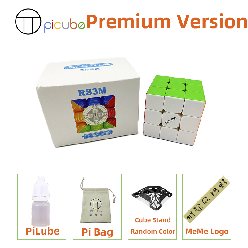 [Picube]2020 Moyu MFRS3 M Magnetic 3x3x3 speed magic cube 3x3 puzzle cube MF RS3M Magnet 3x3x3 cubo magico RS3 M 8