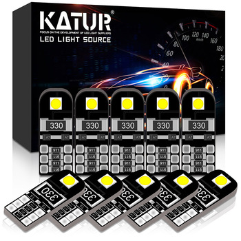 Katur 10pcs Led T10 W5W led Canbus Light Bulbs 194 168 Error Free 3030SMD car Interior Dome Light Parking Lights 6000K White 12V 14pcs can bus error free w5w t10 led interior light kit for audi a3 8p 2004 2013 package replace bulbs white car styling