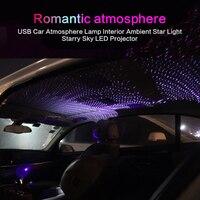 Auto Atmosphäre Umgebungs Stern Licht USB LED Dach Starry Sky Licht Fernbedienung Innen Projektor Dekoration Lampe auto zubehör