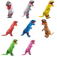 Забавный надувной костюм динозавра на Хэллоуин, надувной костюм тираннозавра, косплей, одежда для сцены