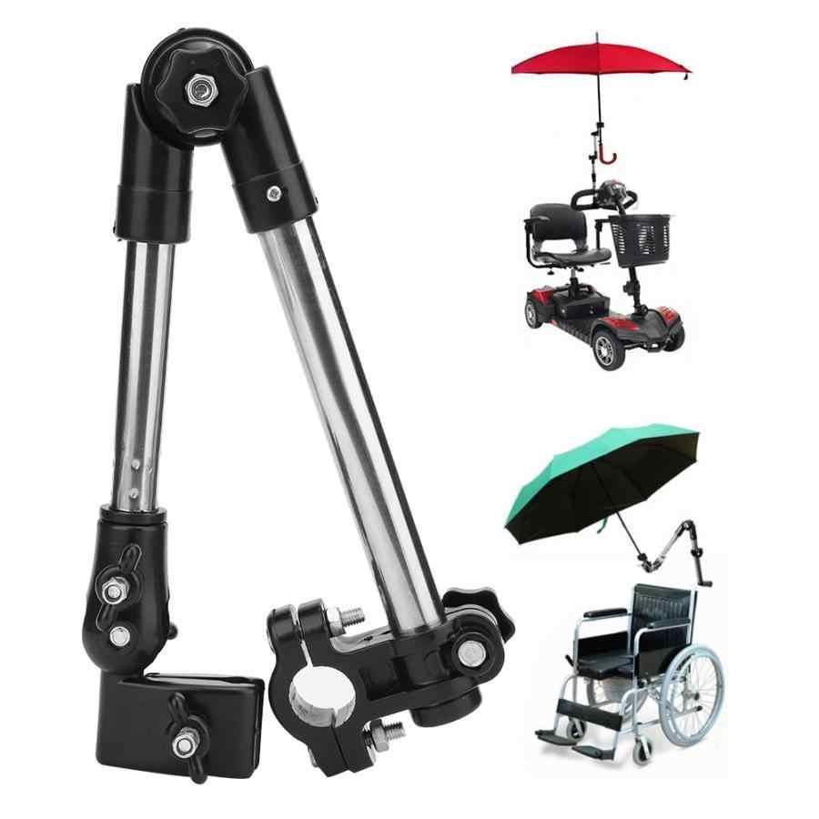 Rollstuhl Kinderwagen Fahrrad Regenschirm Befestigung Griff Bar Halter Clamp Supporter Stecker Rad stuhl Zubehör