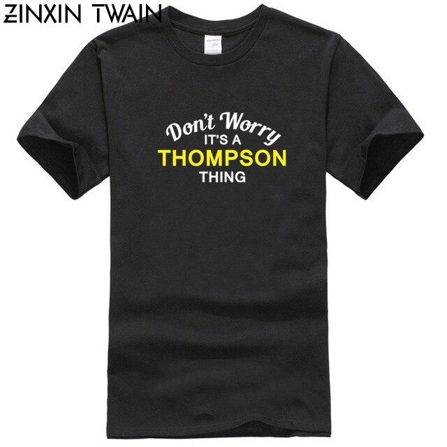 Não preoccuparti una cosa Thompson Da Uomo T-Shirt-cognome-nome - personalizzato