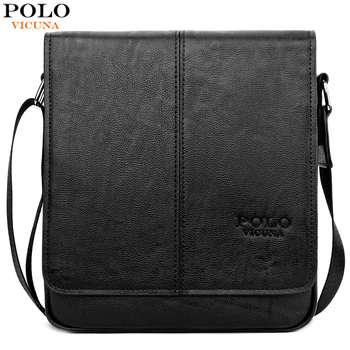 VICUNA POLO Famous Brand Men Messenger Bag Casual Business Leather Man Bags Durable Cross Body Shoulder Bag New