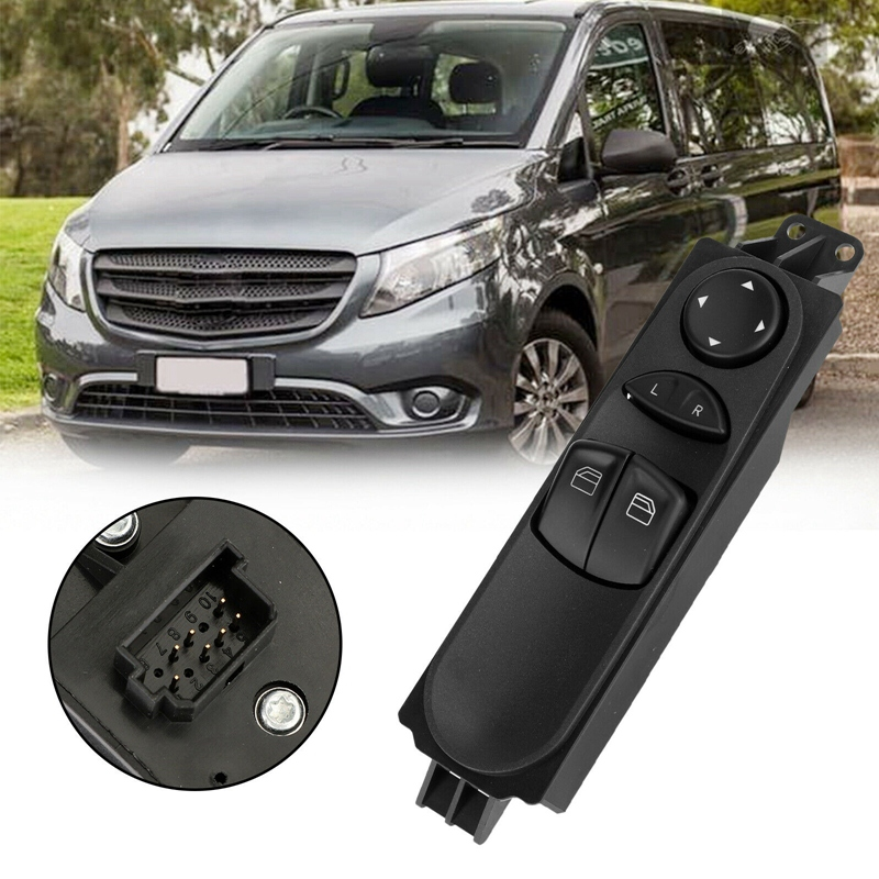 Front Side Master Power Window Switch For Mercedes Benz Valente Vito Mixto W639 2003-2015