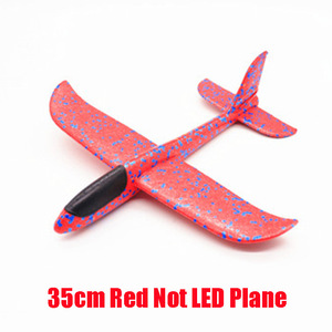 Image 4 - Hot Sale DIY 35cm LED Hand Throw Lighting up Flying Glider Plane Glow In The Dark Toys Foam Airplane Model Toys For Children