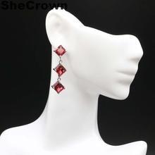 Elegant Long Big Drop Green Peridot, White CZ Wedding 925 Gold Silver Earrings Gift 50x22mm