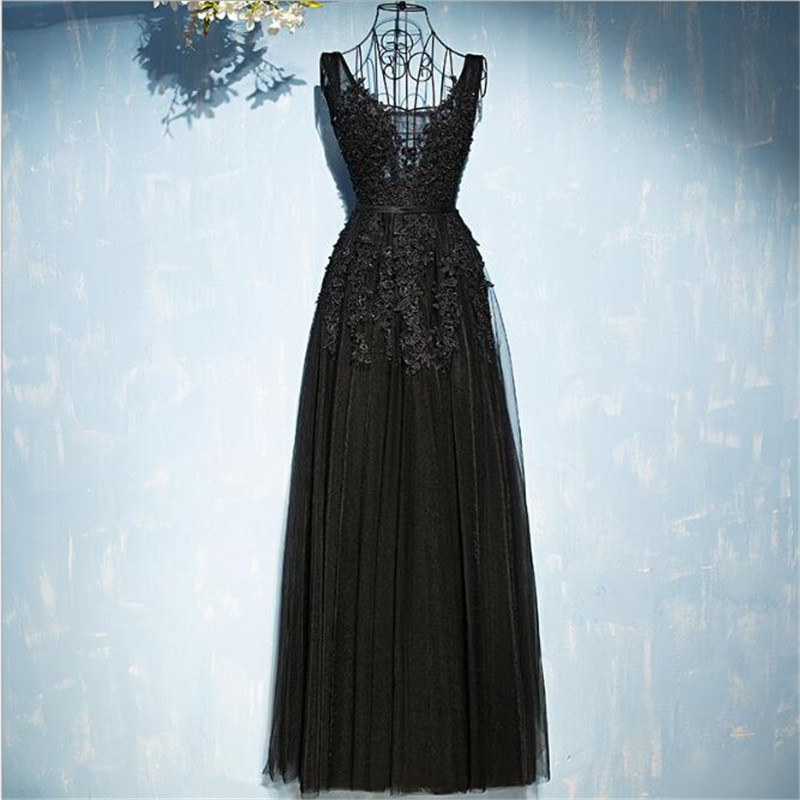 Beauty-Emily Bridesmaid-Dresses Prom-Gowns Tulle Wedding-Guests Pleated-Beads Long Lace