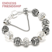 HOMOD AAA Zircon Charm Bracelet for Women Fit Brand & Bangles Jewelry DIY Making Accessories