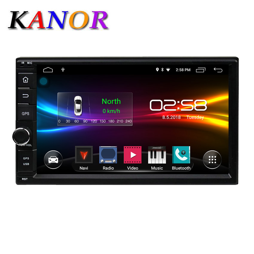 2 Din 7'' Quad core Universal Android 10 2GB RAM Car Radio Stereo GPS Navigation WiFi 1024*600 Touch Screen 2din Car PC USB Map image