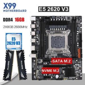 Image 1 - Kllisre X99 motherboard set with Xeon E5 2620 V3 LGA2011 3 CPU 2pcs X 8GB =16GB 2666MHz DDR4 memory