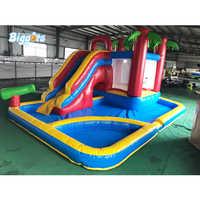 3 w 1 nadmuchiwane combo pełny materiał pvc dmuchany zamek zjeżdżalnia do basenu piłka obszar