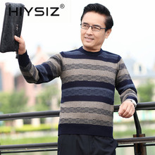 HIYSIZ Brand 2019 Winter Autumn Streetwear Knit Sweater Men Fashion Trend O-Neck Pull Homme Casual Men Tops Stripe Clothes H3004
