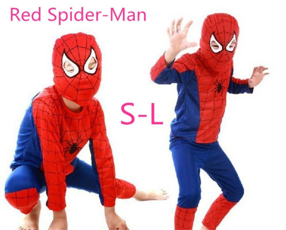 Kids Superhero Spiderman Superman Batman Christmas Halloween Costume Cosplay Party Costume Mask Child Wristband