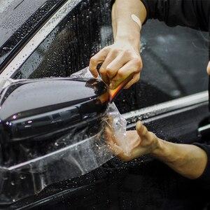 Image 2 - FOSHIO 2/5 sztuk miękkie PPF owijania ściągaczka Carbon Fiber Vinyl Wrap samochodów Film narzędzie do wklejania 2in1 skrobak okno barwienia Auto do czyszczenia