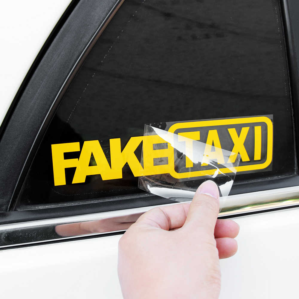 Funny Car Window FAKE TAXI Car Sticker For vw golf 5 vw passat b6 renault clio solaris astra h mercedes w205 renault megane 2
