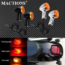 2xMotorcycle arka dönüş sinyalleri göstergeler Amber LED ışıklar siyah/krom Harley Sportster 883 demir XL1200 1992 2015 2016