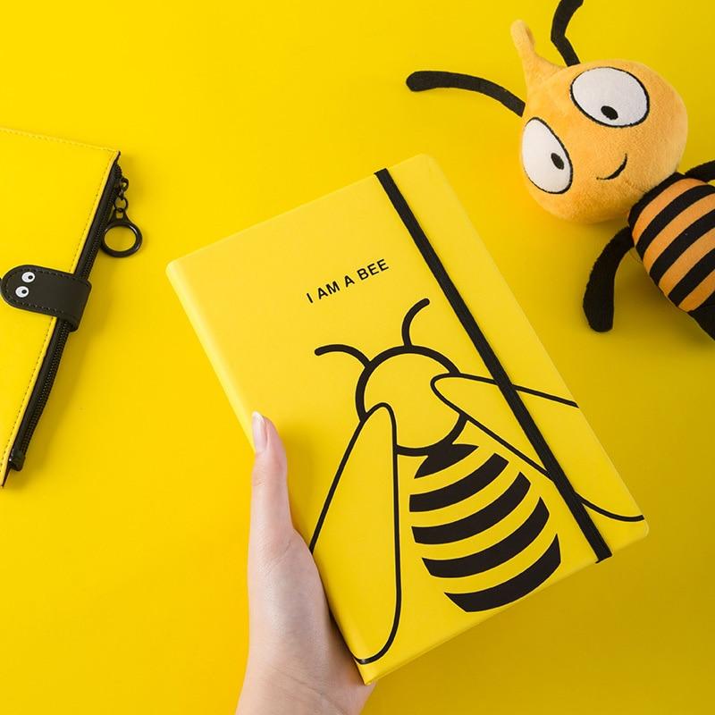 Cute Bee Notebook And Journal Kawaii Lace A5 Diary Line Agenda Planner Organizer 32k Note Book Wonderful School Travel Handbook