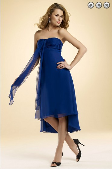 Free Shipping Dinner Dress 2016 New Fashion Party Gown Brides Maid Dress Vestidos Formales Short Royal Blue Bridesmaid Dresses