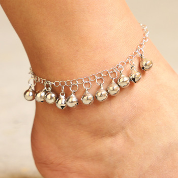 Vintage Christmas Bell Chains Anklets Fashion Simple Sliver Bracelet & Anklet For Women Men Xmas Jewelry Gifts