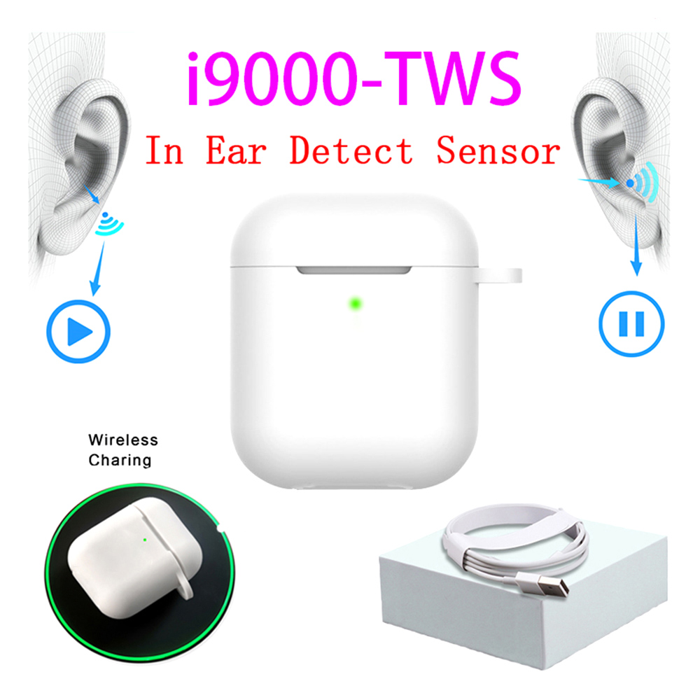 Original I9000 TWS 1:1 In-ear H1 Aire 2 Bluetooth Earphone Mini Wireless Earbud Headphone Aire2 Headset PK W1 Chip Elari