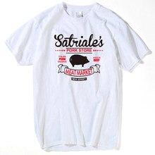 Satriale porco loja novo traje do vintage retro humor camiseta dos homens 2018 engraçado máfia sopranos camiseta dos homens t camisa
