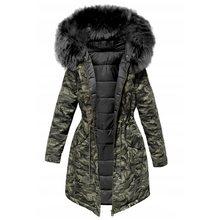 Женская зимняя куртка с капюшоном, зимнее пальто, парка, Женская свободная парка с меховым воротником, куртки с хлопковой подкладкой