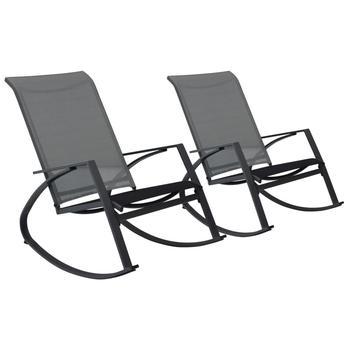 2 szt Nowoczesne krzesła bujane ciemnoszary leżak na zewnątrz krzesła na ogród kemping taras Patio krzesła ogrodowe tanie i dobre opinie Z tworzywa sztucznego Leżaku Meble ogrodowe