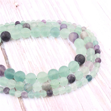 Frosted Fluorite Natural?Stone?Beads?For?Jewelry?Making?Diy?Bracelet?Necklace?4/6/8/10/12?mm?Wholesale?Strand