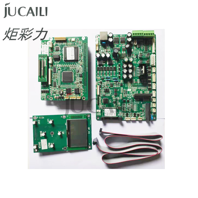 Jucaili One Set Printer Board Kit For Epson Xp600/DX5/DX7 Single Head Board Carriage Board Main Board For Solvent Printer