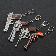 Pubg Jedi Survival Keychains p92 Signal Pistol Revolver Model Key Chain Pendant For Boy Bag Keyring Gifts Bag Pendant keyring buck model pendant decor
