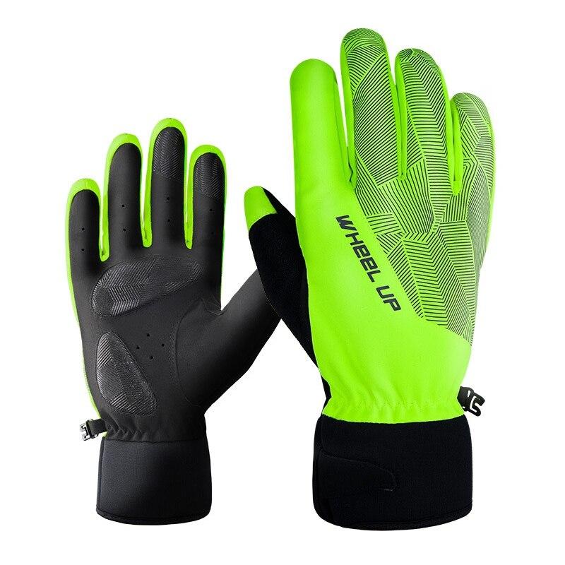 Зимние теплые лыжные перчатки, лыжные перчатки для пересеченной местности с сенсорным экраном, мужские и женские водонепроницаемые для вож...