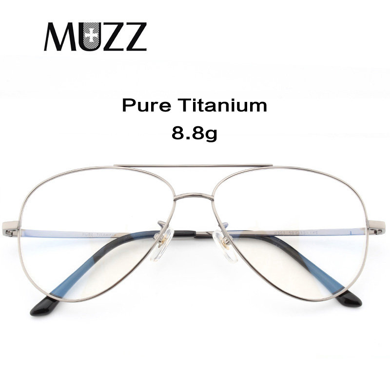 Pure Titanium Prescription Frame Pilot Men Oversize Eye Glasses Frame Optical Myopia Eyeglasses High-quality Frame For Women