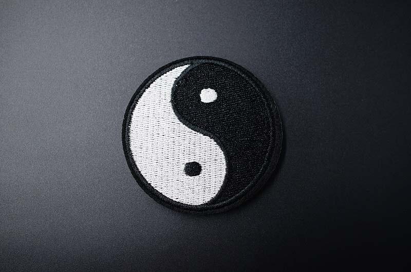 Черно-белая ткань для экспрессии Mend украшает утюжок на патч одежда шитье украшения аппликация вышивать на пачках для одежды