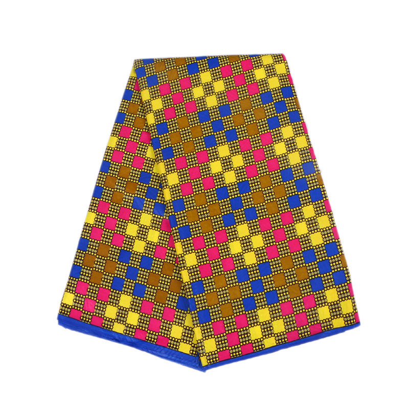 2019 Newest Arrivals Fashion Design African Colouful Square Print Veritable Ankara Wax Java 6Yards\lot
