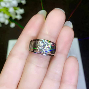 Image 3 - BOEYCJR 925 Silver 0.5ct/1ct/2ct/3ct F color Moissanite VVS  Engagement Wedding Diamond Ring for Men With national certificate