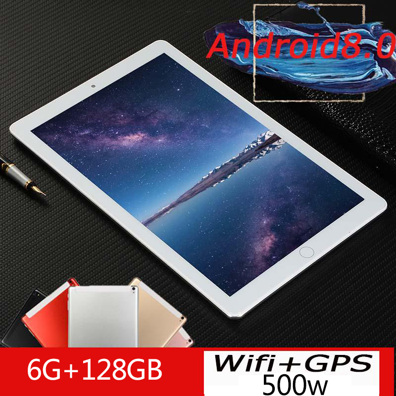 2020 New Google Android 8.0 10 Inch 10 Core Tablets 4G LTE Phone Call Tablet 6GB 128GB Dual SIM 5.0MP Wifi GPS Tablets 10 Pad