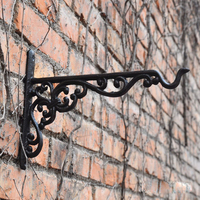 Cast Iron Hanging Basket Vintage Wall Hook with Screws/Decorative Plant Hanger For Bird Feeders, Planters, Lanterns, Wind Chimes