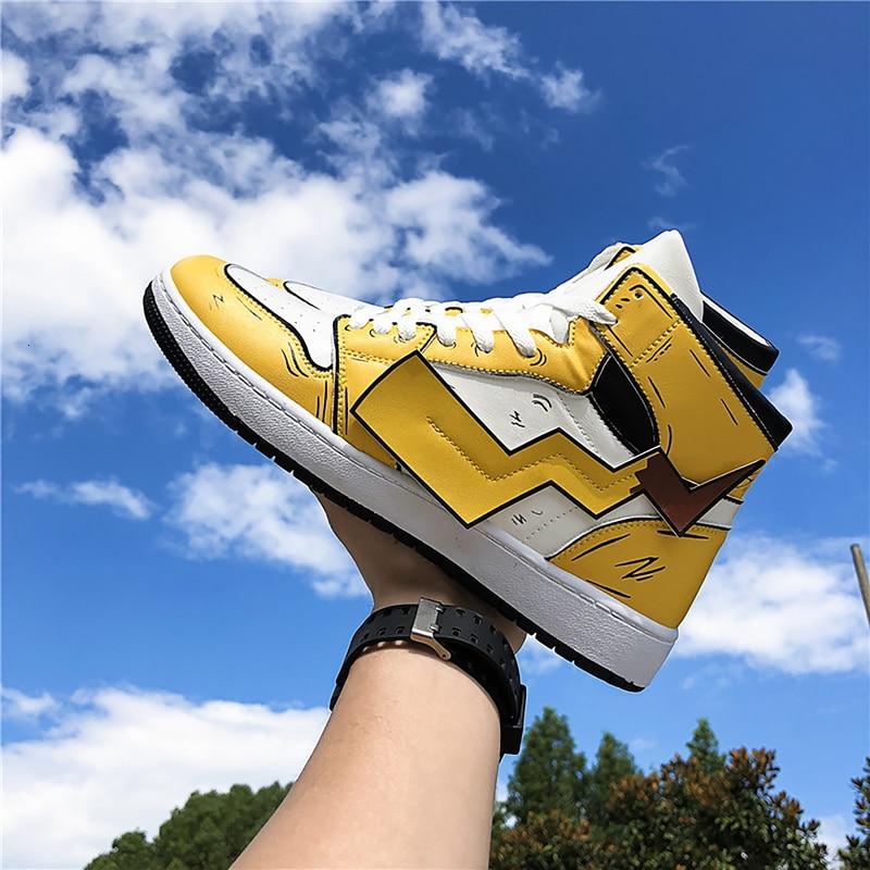 Zapatos con estampado de Pikachu para hombre zapatillas Otoño Invierno cuero PU clásico de alta calidad zapatos vulcanizados para hombre Botas casuales para hombre Perlas naturales de agua dulce de alta calidad 36 cm perlas sueltas perforadas DIY señoras collar pulsera producción 12-16