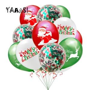 10 шт./лот, рождественские украшения, латексные конфетти, воздушные шары, рождественские, вечерние, рождественские украшения для дома, Globos Belen