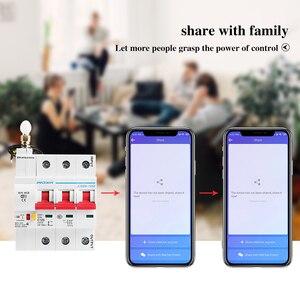 Image 5 - 3P WiFi akıllı devre kesici otomatik anahtarı aşırı yük kısa devre koruması Alexa ve Google ev için akıllı ev