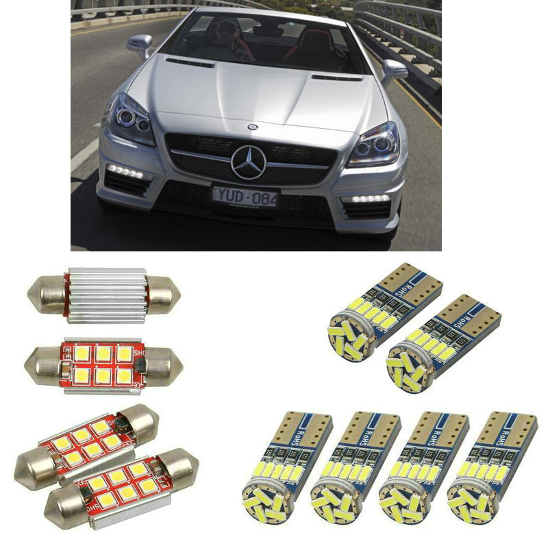 Interior led Car lights For mercedes <font><b>slk</b></font> <font><b>r172</b></font> cabrio bulbs for cars License Plate Light 4pc image