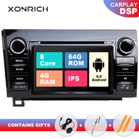 IPS DSP 64G 2 Din Android 9.0 Car DVD Multimedia Player For Toyota Tundra Sequoia 2007 2008 2009 2010 20112012 2013 Stereo radio