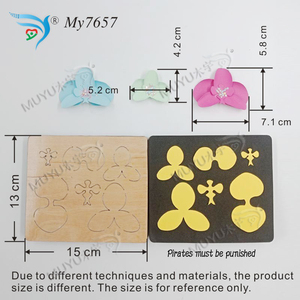 Image 5 - FLOWER cutting dies & wooden die scrapbook cut sky Compatible with most machines